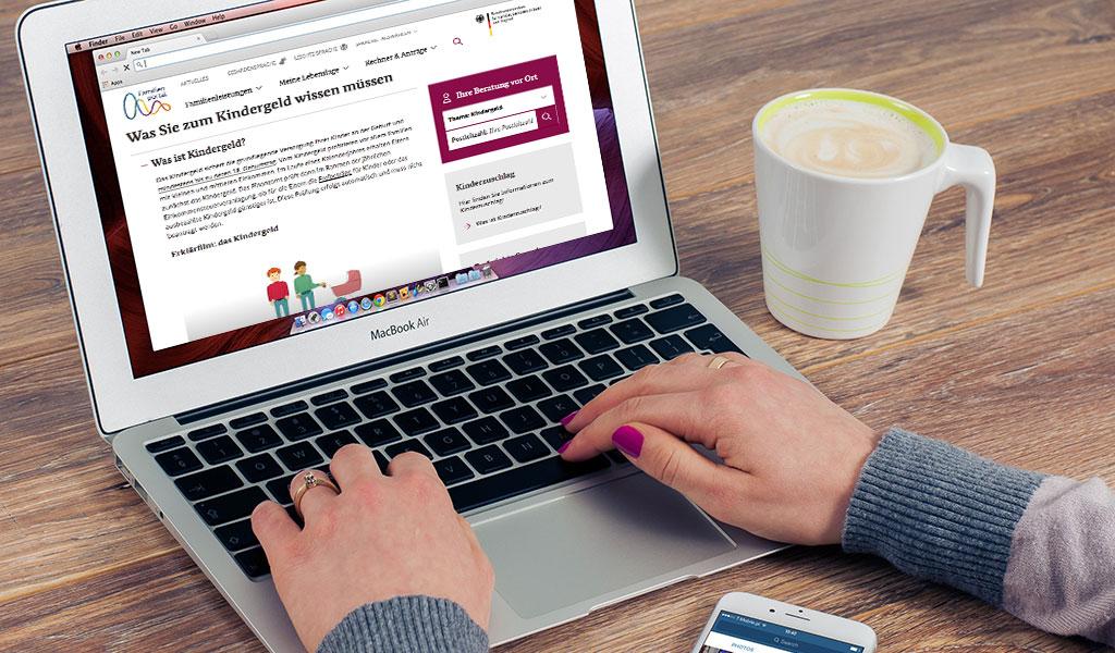 Czy mogę złożyć wniosek o Kindergeld online?